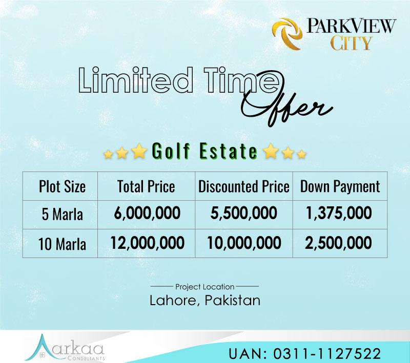 Park View City Lahore Offer